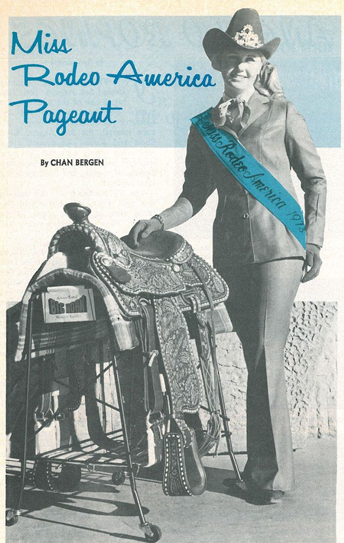 Flashback: Miss Rodeo America Pageant 1973 - Western Horseman  #Rodeo #Cowboys