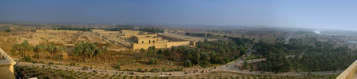 Panorama actual de las Ruinas de Babilonia, Irak, c. 2008