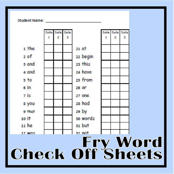 Begin your school year by assessing how many words your students can read using these Fry Word Check Off Pages.  An organized way record their known words and create word stacks for them to practice with the Fry Word cards - also on this site!