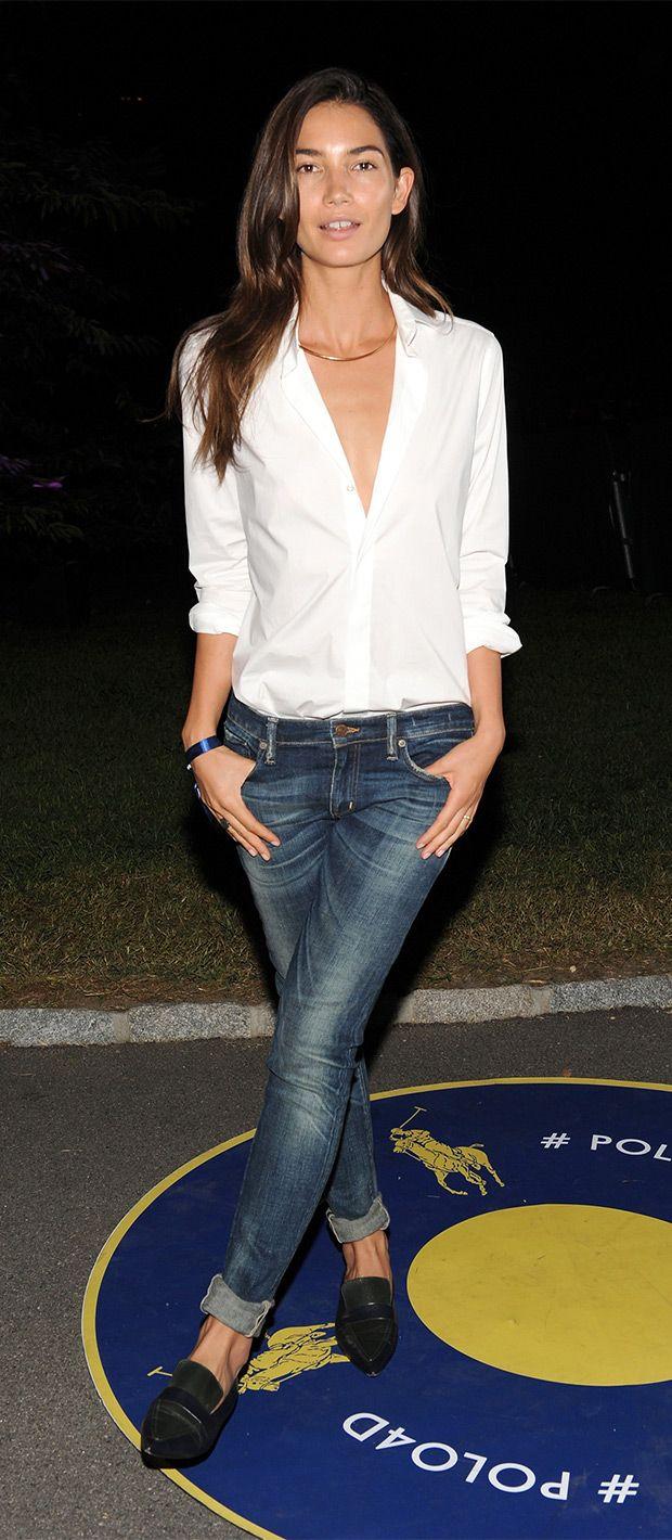 Lily Aldridge in jeans #StreetStyle