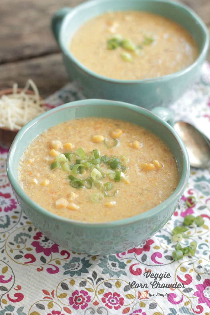 Veggie Corn Chowder (From 100 Days of Real Food Cookbook) | Live Simply