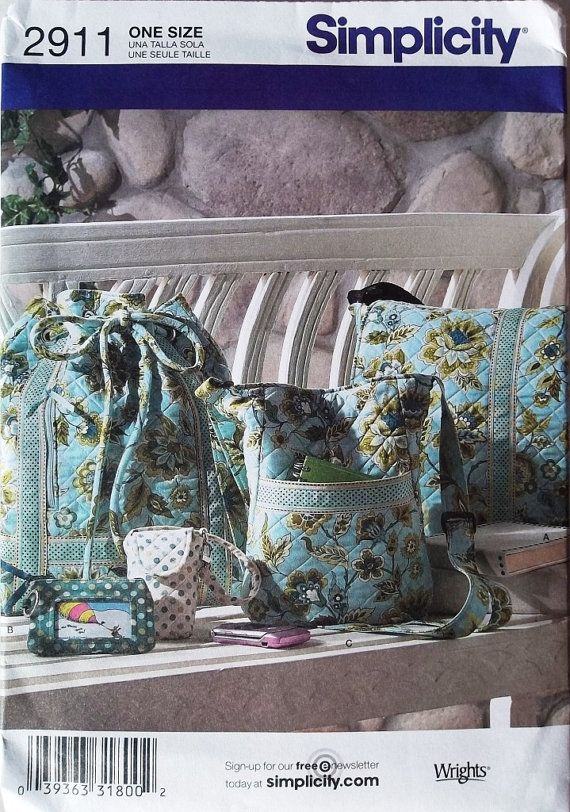 Cloth Bags Pattern Pre-quilted Fabric Bags Pattern by blue510