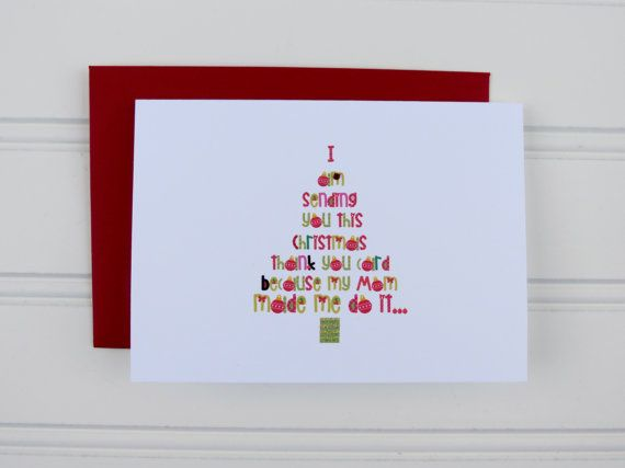 Best Christmas Thank You Cards Images On   Holiday