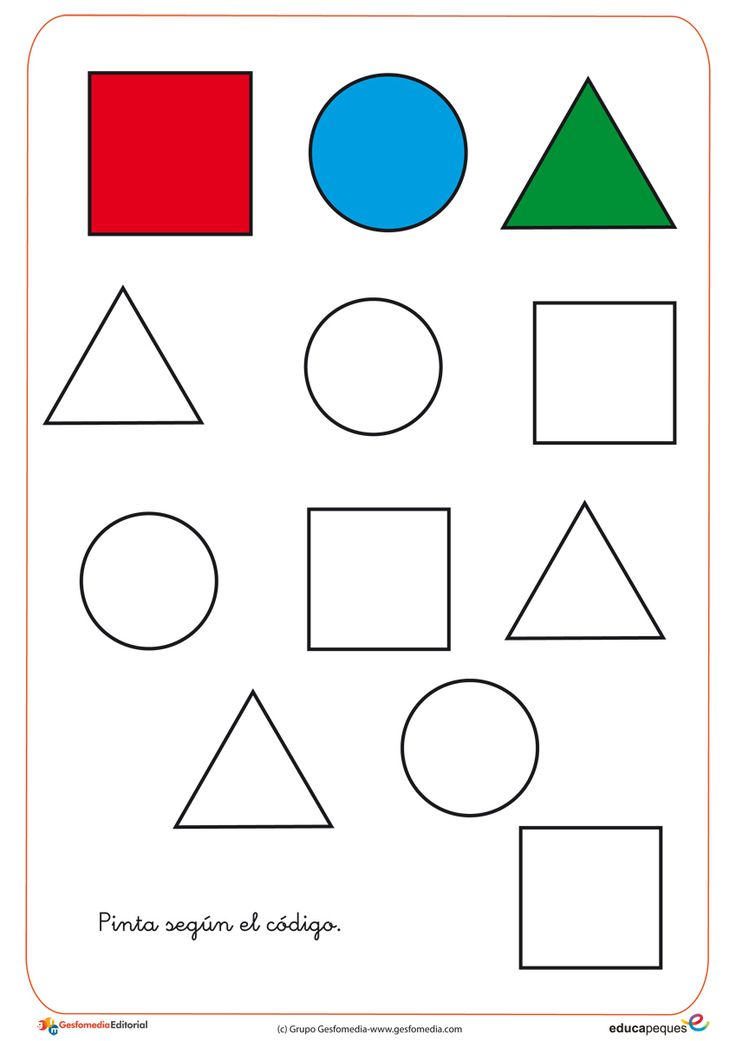 Use paint or make your own work sheet to turn the shapes into traceable lines, have students trace the lines and then Color the shapes