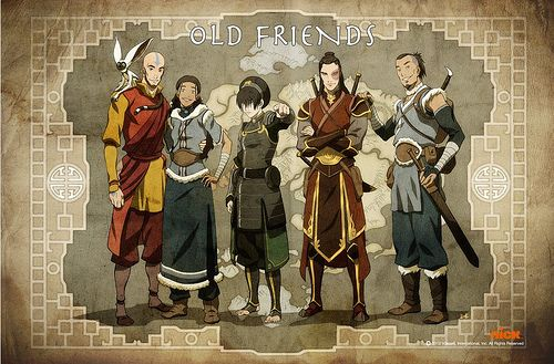 Asian dieselpunk | The, now adult, Avatar: The Last Airbender main cast. From left to ...