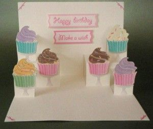pop up cardCards Ideas, Birthday Cardmaking Ideas, Pop Up Cards, Cupcakes Cards, Birthday Cards, Greeting Cards, Scrapbook Cards Pop Up, Cards Tutorials, Awesome Cards
