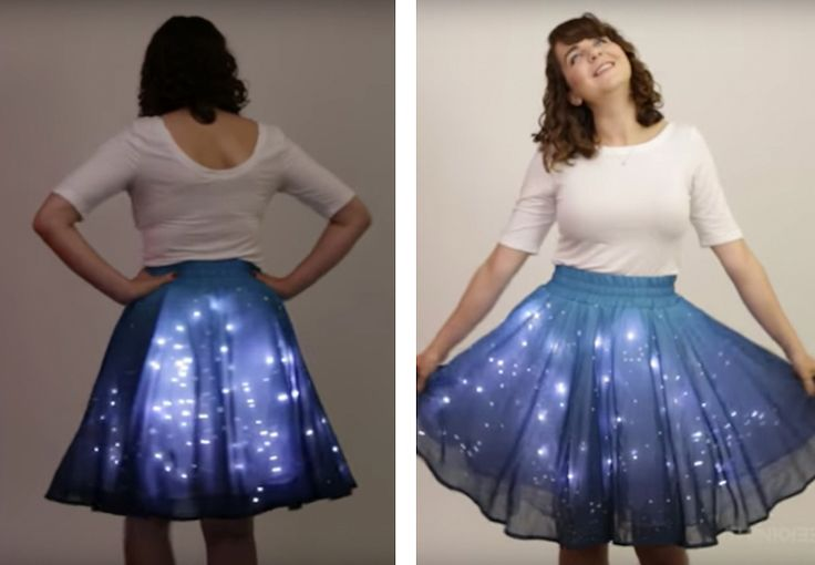 """""""Twinkling Stars Skirt"""" Adorned with 250 LED Lights Makes ..."""