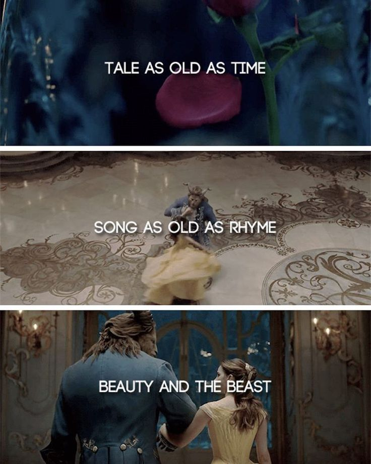 Tale As Old Time Song Rhyme Beauty And The Beast