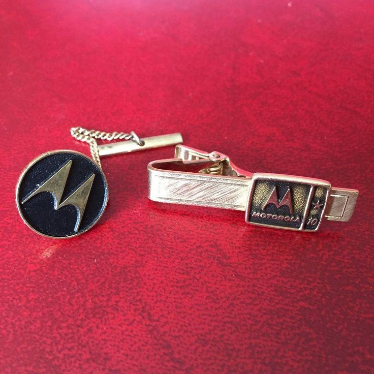 Motorola Telephone Phone Company Vintage 14k Gold Tie Bar Clip & Tie Tack Pin  | eBay