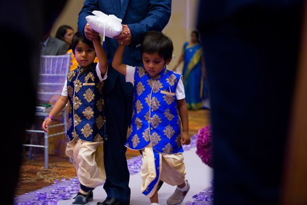 Adorable two ring bearers. Photo by: Sarani Photography