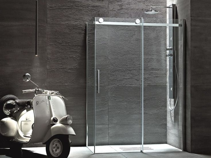Box doccia angolare con porte scorrevoli FLUIDA Collezione Showering by Glass 1989