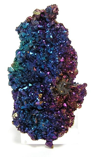Iridescent Chalcopyrite crystal cluster  (Peacock Ore)  So pretty!