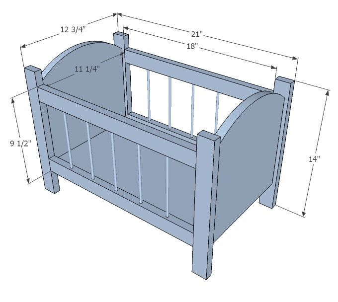 build wooden dolls cot - Google Search