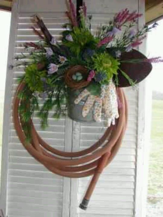 41 best Garden hose wreath images on Pinterest | Door ...