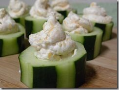 Great #easter appetizer! Super Easy! Cheesy Cucumber Bites