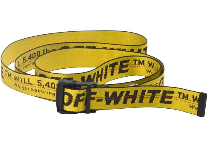 Off White Industrial Belt Ss19 Yellow Black In 2020 With Images Off White Industrial Belt Off White Belt Balenciaga Speed Trainer