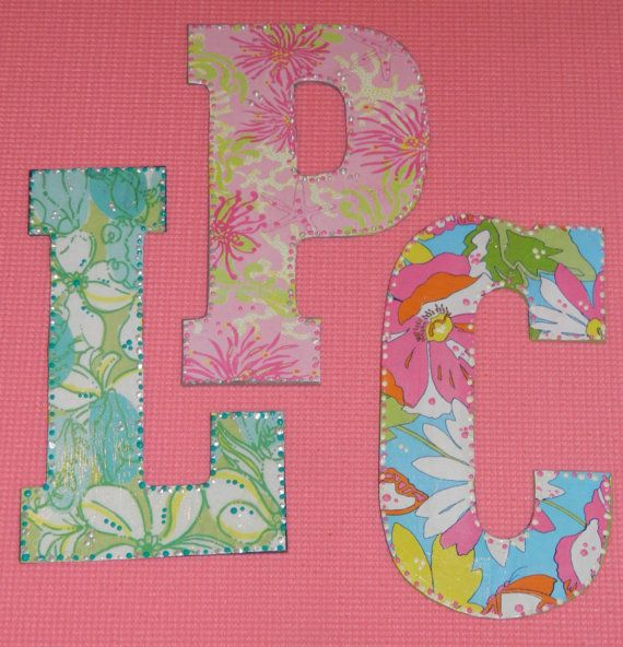 Lilly Pulitzer Letters -YOU PICK A-Z- cut out by Mama Duck Creations