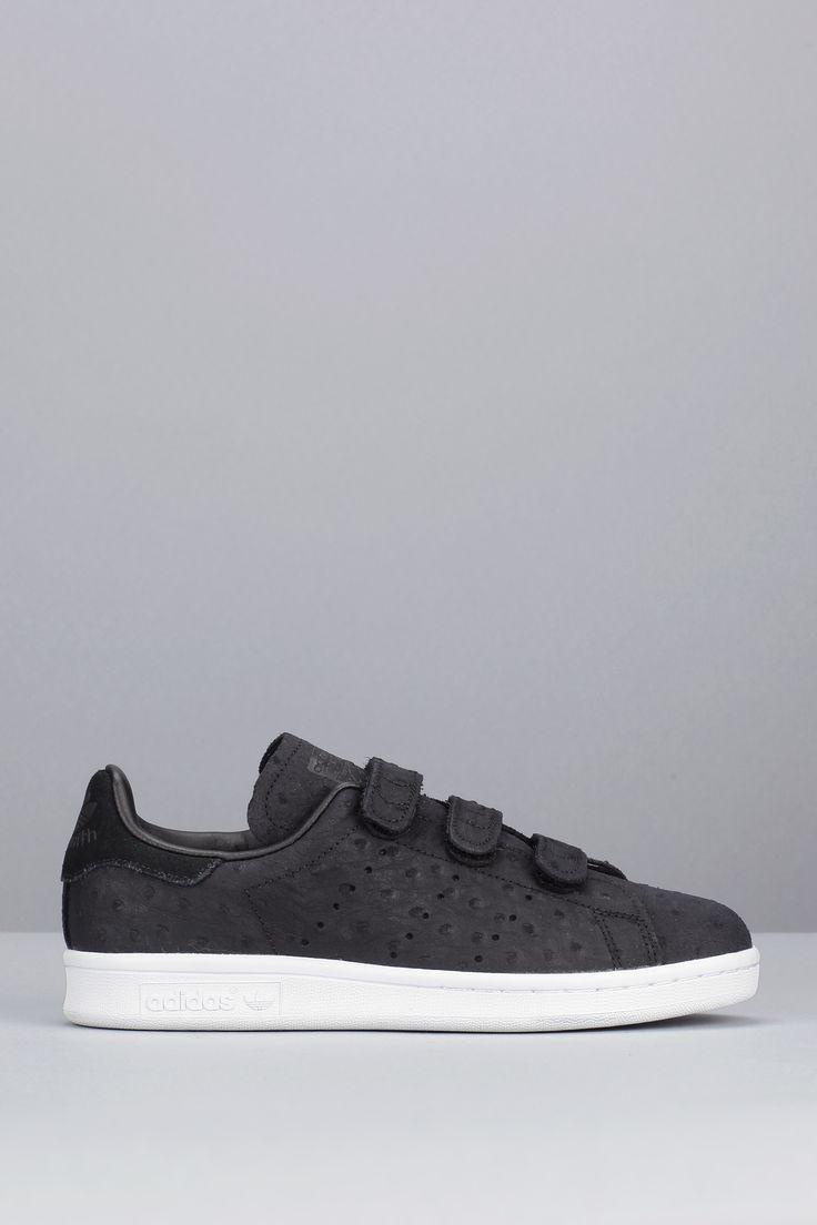 Sneakers noires nubuck texture pois scratch Stan Smith CF W