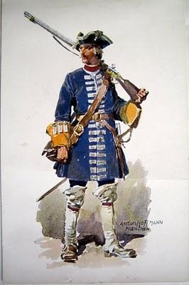 Anton Hoffmann, Fusilier of 1710.