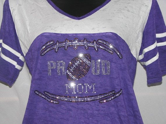 Proud Football Mom Jersey Shirt by aSweeTeeStop on Etsy, $21.99