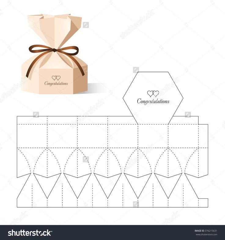 Retail Box With Blueprint Template Illustration vectorielle libre de droits 376215631 : Shutterstock