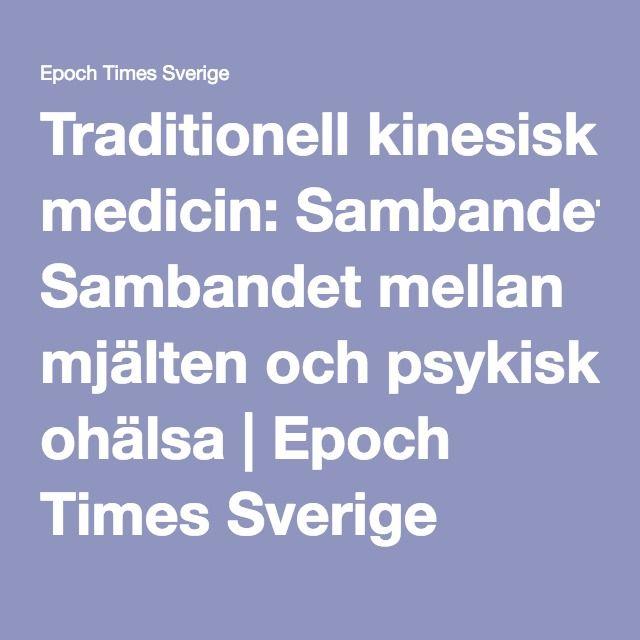 Traditionell kinesisk medicin: Sambandet mellan mjälten och psykisk ohälsa | Epoch Times Sverige