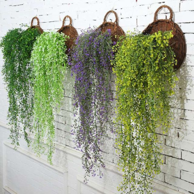 Artificial Fake Hanging Flower Vine Plant Wedding Indoor Outdoor