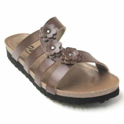 Pali Hawaii Women's PH 1685 Slide Sandal-Brown-Size 6