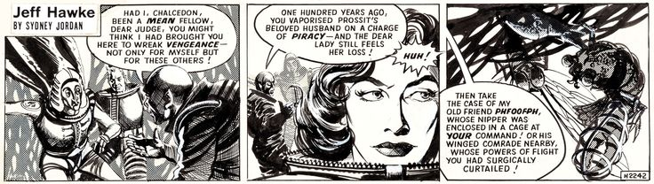 Sydney Jordan Jeff Hawke #H2242 Daily Comic Strip Original Art   Lot #13038…