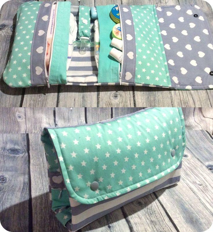 windeltasche xxl rei verschluss herzen sterne wickeltasche unikat geschenk baby ebay. Black Bedroom Furniture Sets. Home Design Ideas
