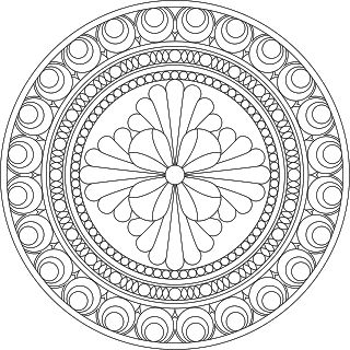 Dont Eat the Paste: Architectural Inspired Mandala to Color
