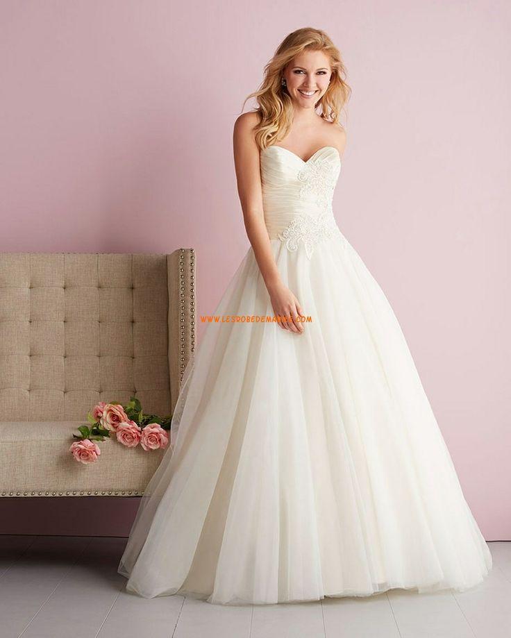 Robe de mariée 2014 tulle princesse application col en coeur