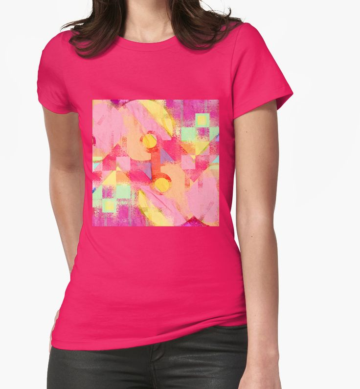 Worn out by Silvia Ganora New! #tees #tshirts #apparel #redbubble #geometric #modern #summerdesign #contemporary #pinkdesign #washeddesign