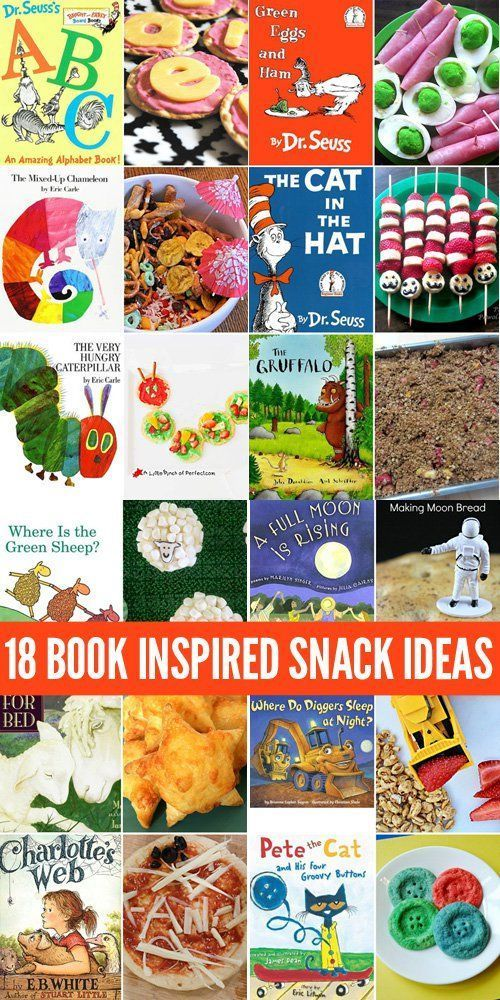 18 Book Inspired Snack Ideas for Kids. Perfect for Book Week, International Book Day or any day!