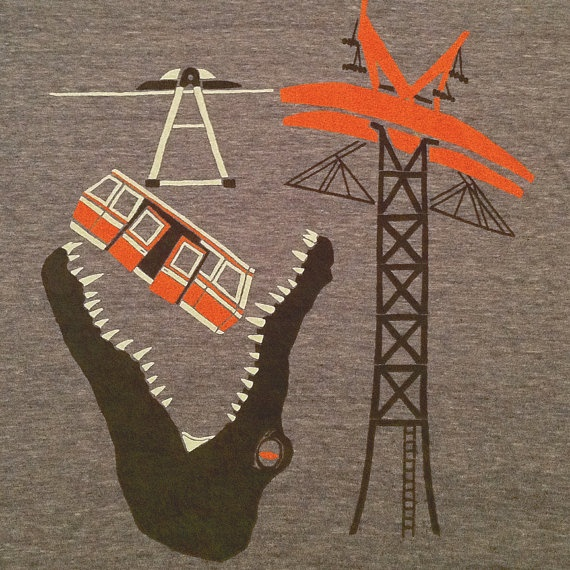 Alligator vs Tramway t-shirt