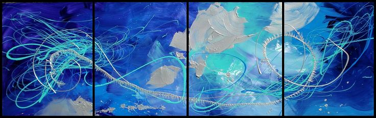 4 canvas painting in Blues #12 AU$300