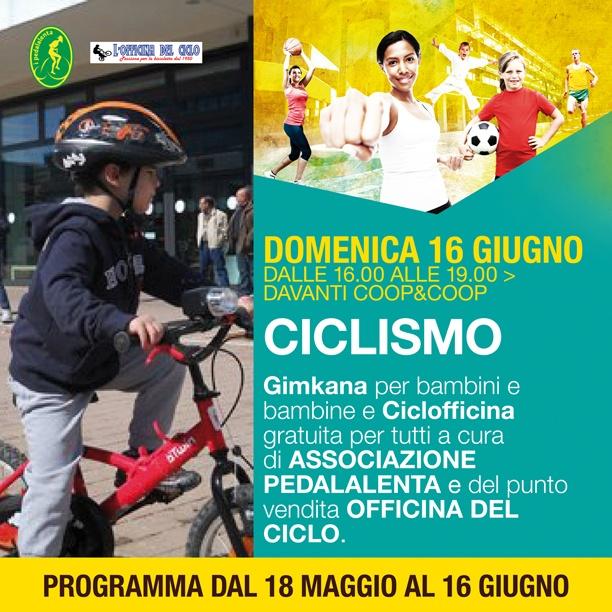 Domenica 16 gimkana ciclistica per bambini e gratis per tutti la Ciclofficina!  #lepiazze #lifestyle #shopping #castelmaggiore #sport #ciclismo #sportlifestyle