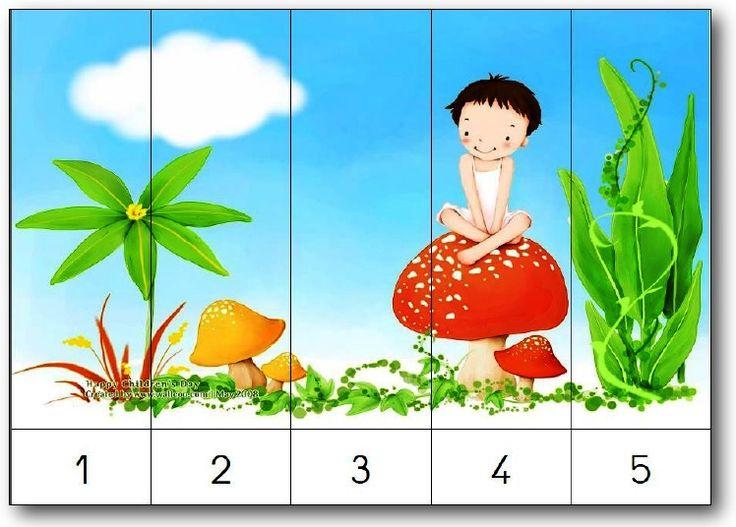 Puzzle numérique maternelle à imprimer counting number puzzles
