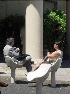 Escofet, rotating chairs, talkscape