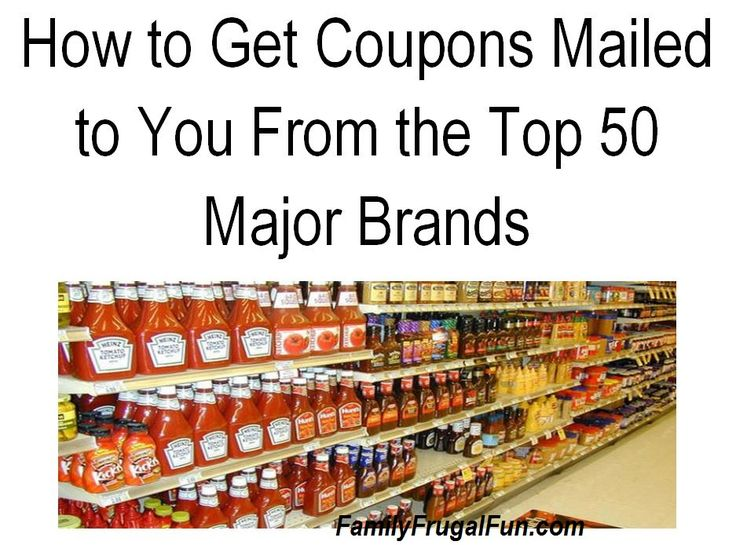 How to get free coupons sent to your home