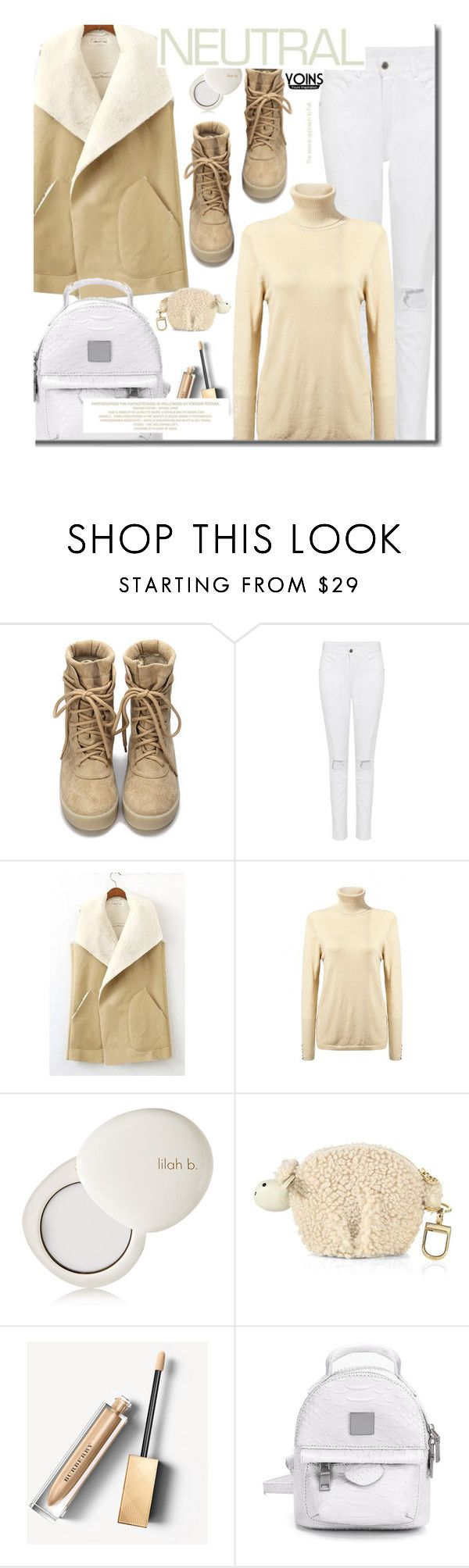 """""""Yoins Cool Neutrals"""" by beebeely-look ❤ liked on Polyvore featuring lilah b., Tory Burch, Burberry, Sweater, neutrals, backpacks, falltrend and yoinscollection"""