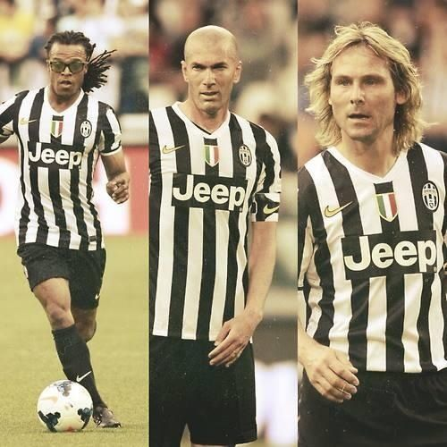 Juve legends: Davis, Zidane, and Nedved. That was the dream team