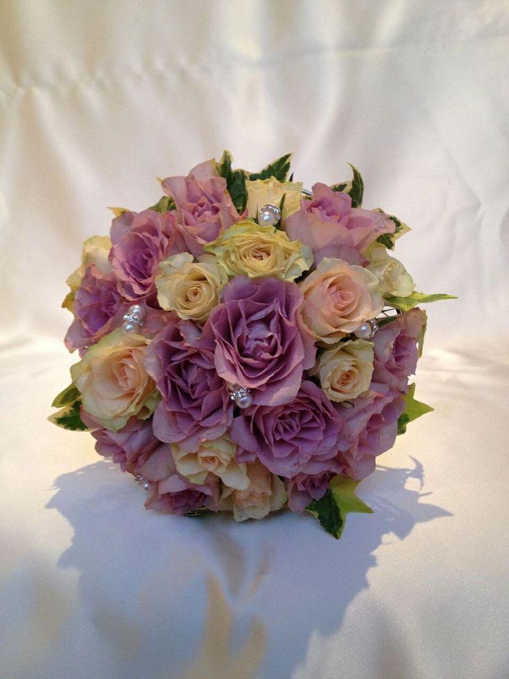 Gorgeous vintage rose bride bouquet. Chanan's Floral Events