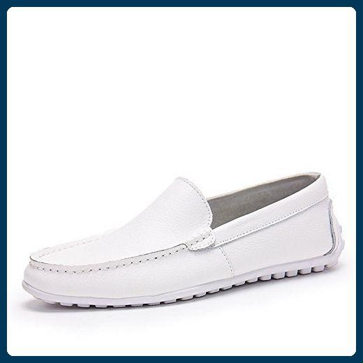 TOP Mokassins Damen 39 Zapatos  Mokassins 0384 Weiß Blau 39 Damen d72056