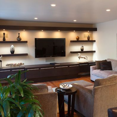 25 best ideas about tv wall shelves on pinterest - What size tv to get for living room ...