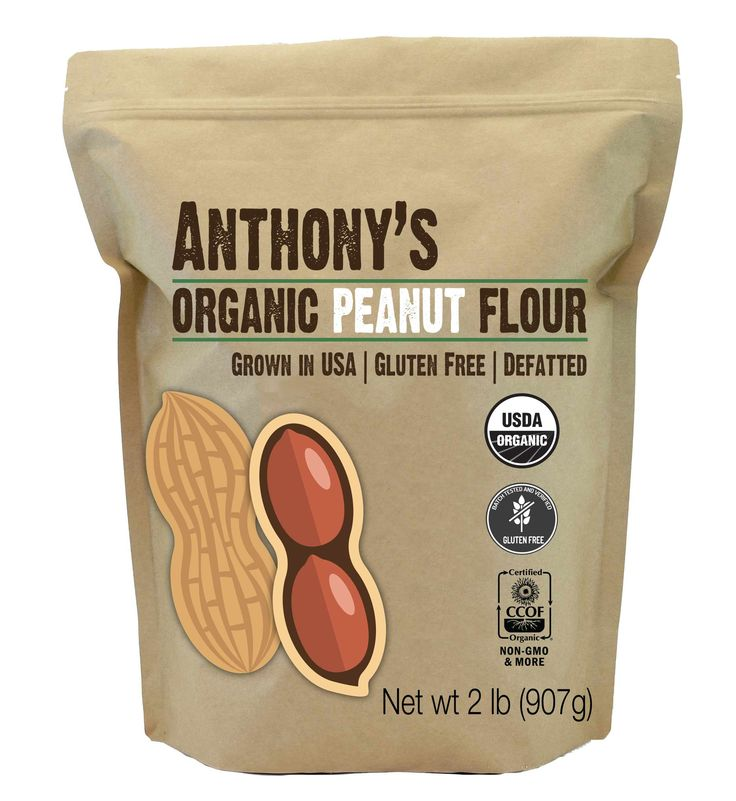 Anthony's Organic Peanut Flour, Light Roast, 12% Fat, Verified Gluten-Free