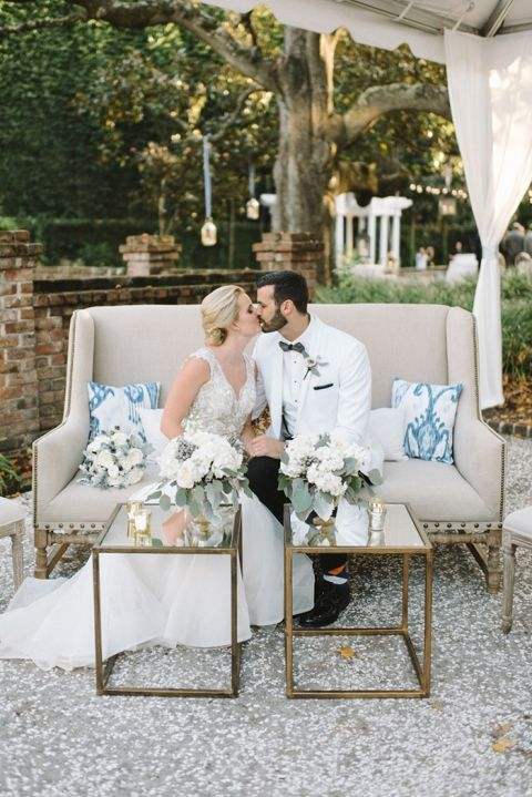Kristen & Steve's beautiful wedding at the historic William Aiken House in Charleston, SC | Real wedding featured on Hey Wedding Lady | Photograph by Sean Money + Elizabeth Fay