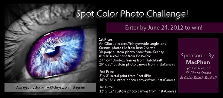 Always Chrysti - Always Chrysti - GIVEAWAY + CHALLENGE - 'SPOT COLOR' ON INSTAGRAM: Colorsplash Chrysti Highlights, Spots Color, Colorsplashchrysti Highlights