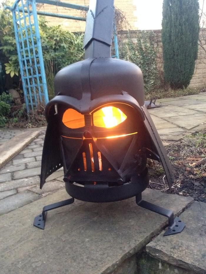 how to build a darth vader log burner from a gas bottle cool stuff pinterest log burner. Black Bedroom Furniture Sets. Home Design Ideas