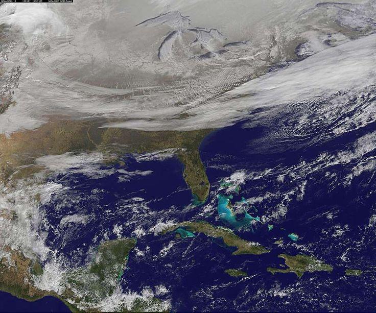 Snow-covered U.S. deep freeze - NOAA GOES Project/NASA